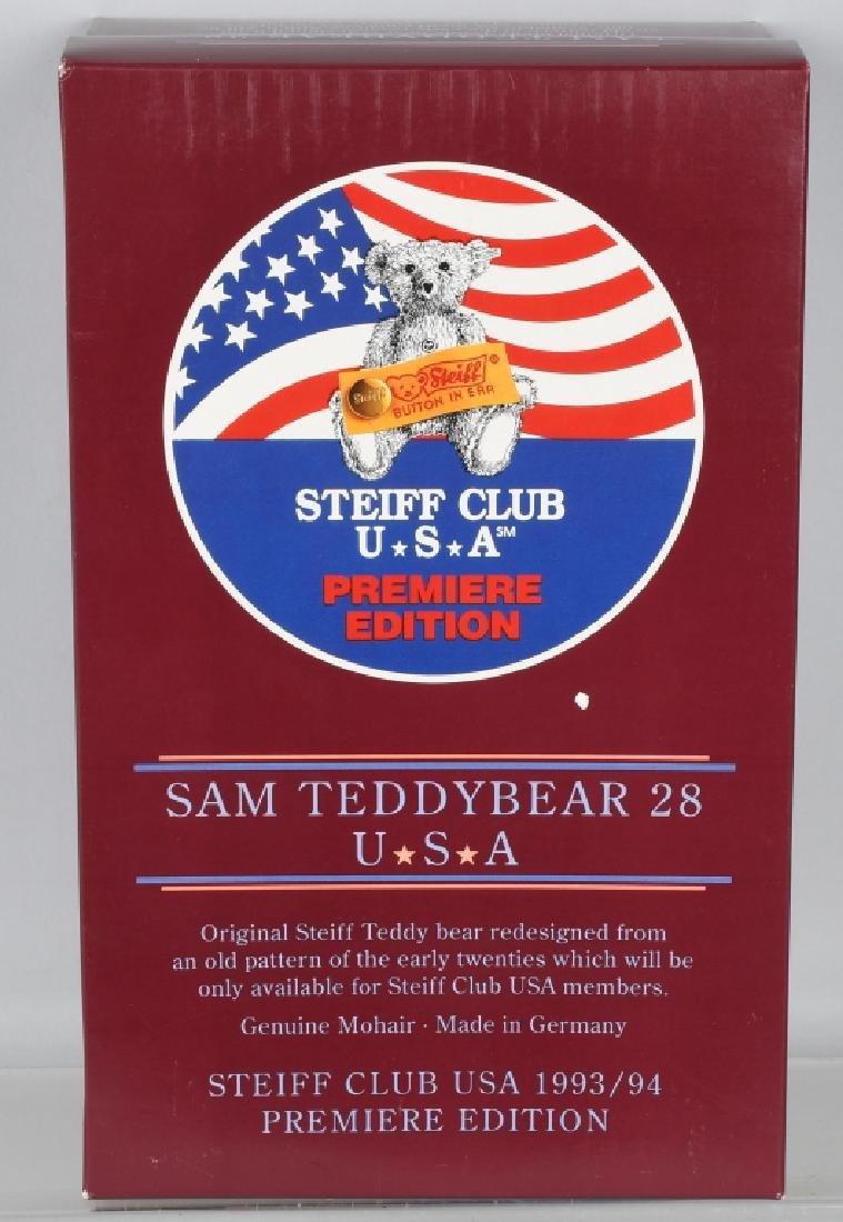 STEIFF CLUB BEAR PREMIERE SAM TEDDY BEAR - 4