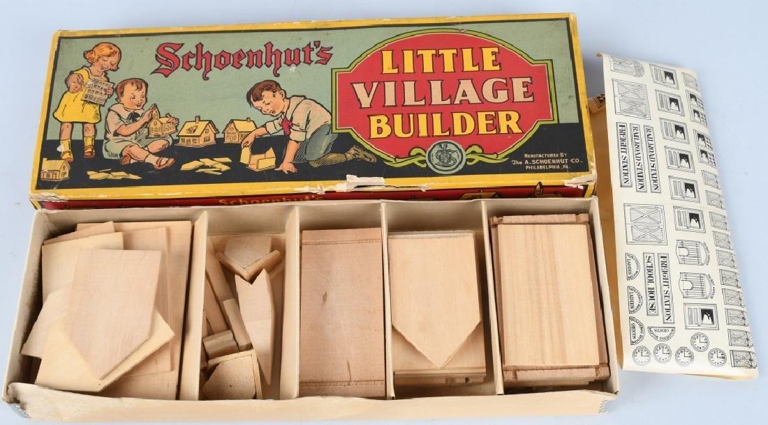 SCHOENHUT LITTLE VILLAGE BUILDER SET