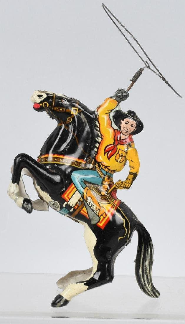 MARX Tin Windup COWBOY on HORSE