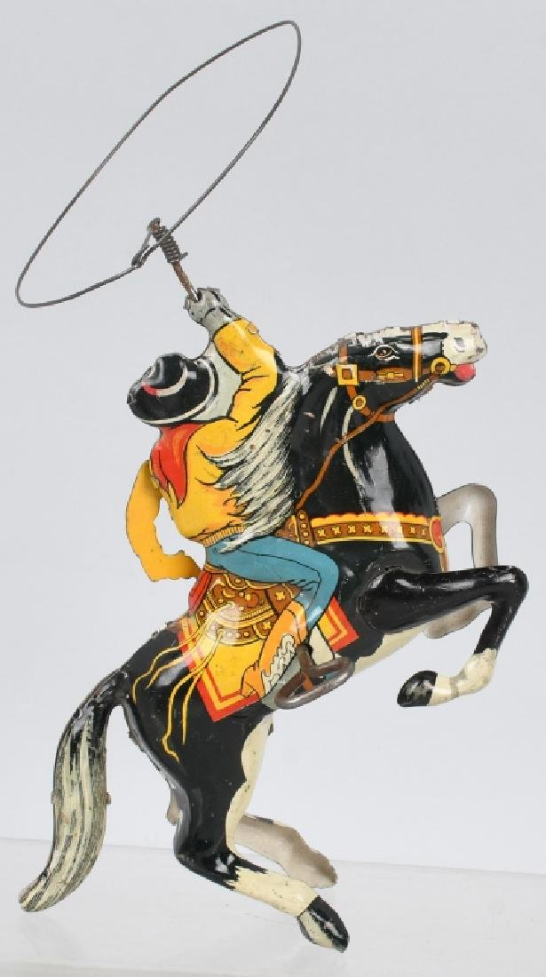 MARX Tin Windup COWBOY on HORSE - 3
