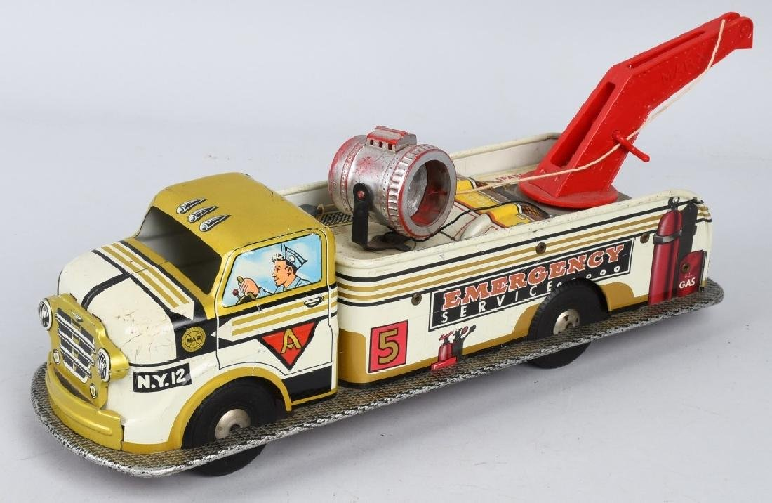 MARX Friction EMERGENCY SERVICE TOW TRUCK