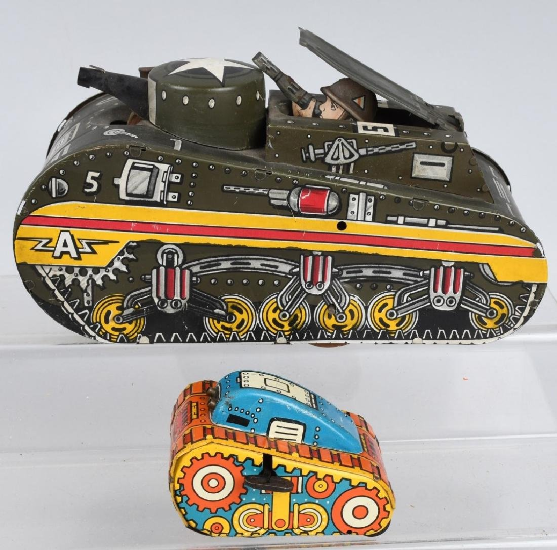 2- MARX TIN WINDUP TANKS