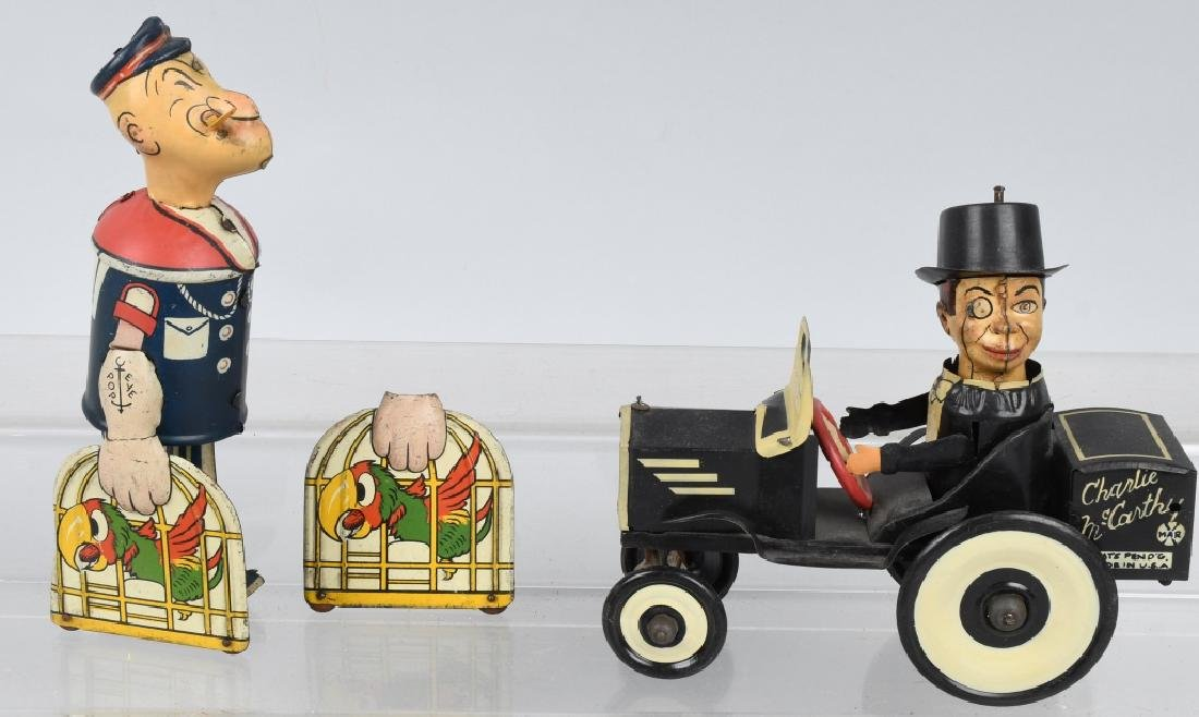 MARX CHARLIE McCARTHY BUGGY & POPEYE WITH PARROTS