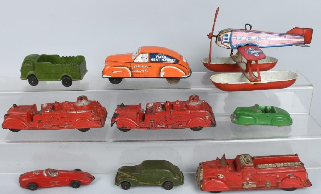 LOT OF TOY VEHICLES & AIRPLANE