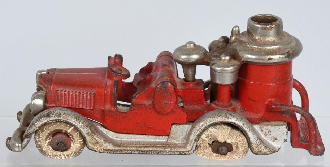 HUBLEY CAST IRON BOILER FIRE TRUCK.