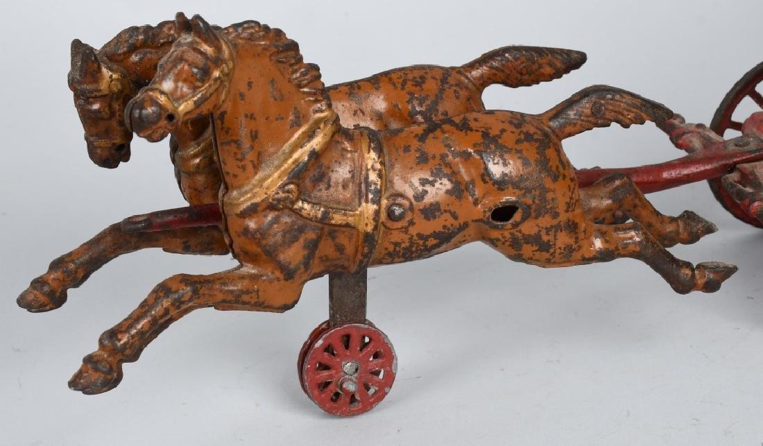 HUBLEY CAST IRON HORSE DRAWN BOILER FIRE WAGON - 3
