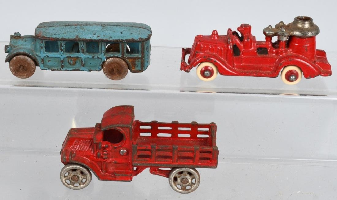 3- SMALL CAST IRON VEHICLES