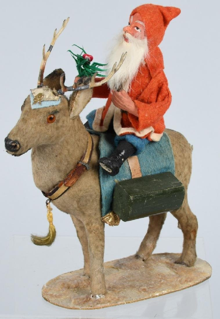 GERMAN SANTA CLAUS RIDING REINDEER