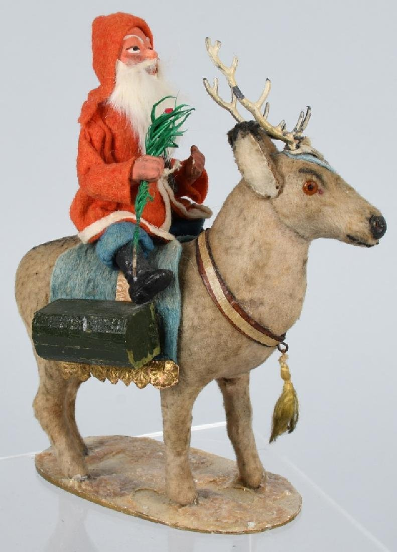 GERMAN SANTA CLAUS RIDING REINDEER - 4