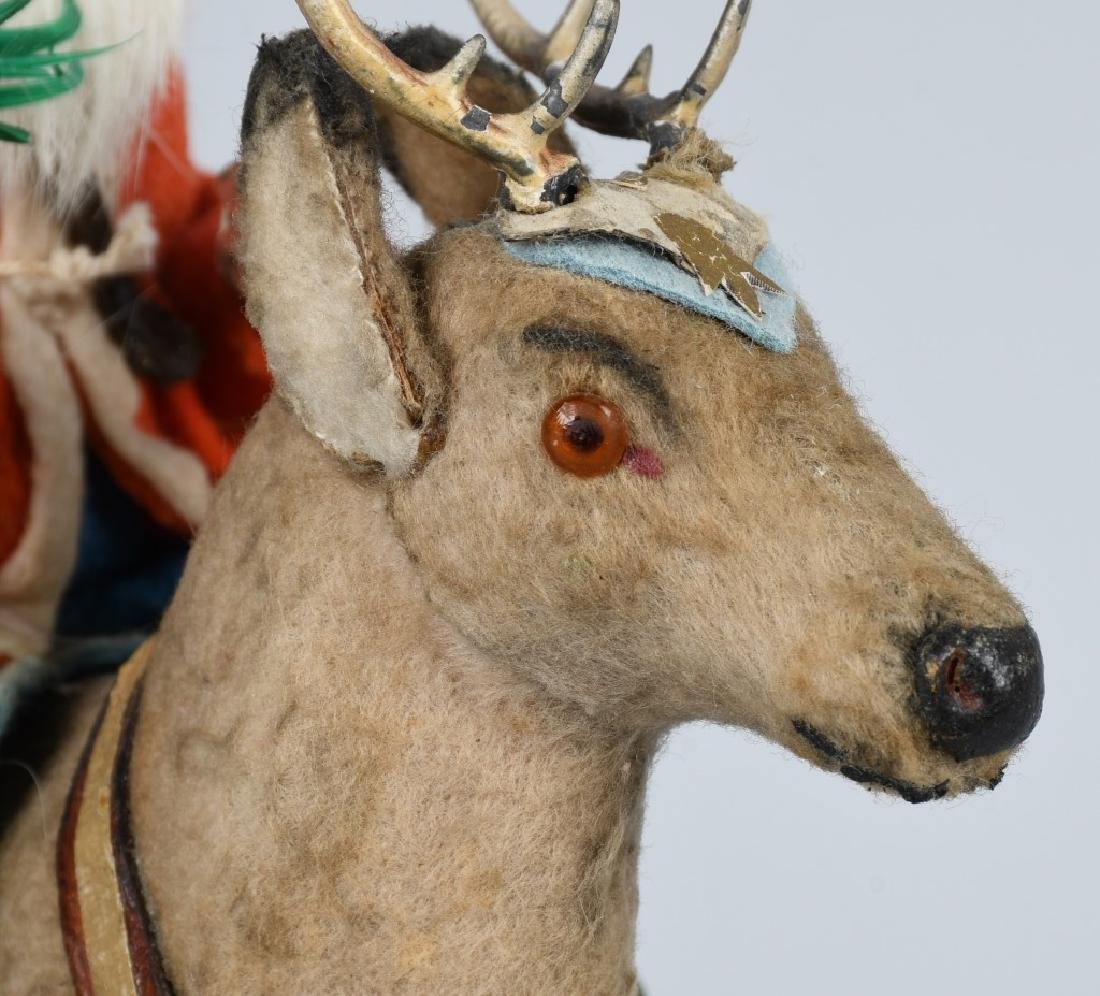 GERMAN SANTA CLAUS RIDING REINDEER - 6