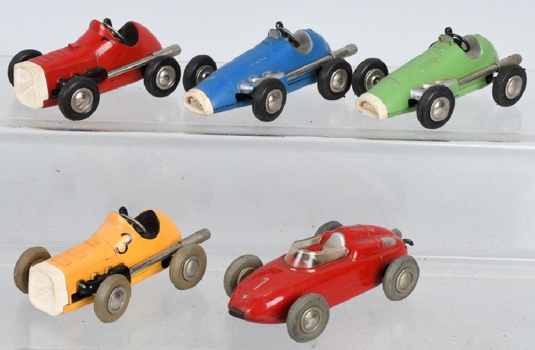 5- SCHUCO WINDUP MICRO RACE CARS