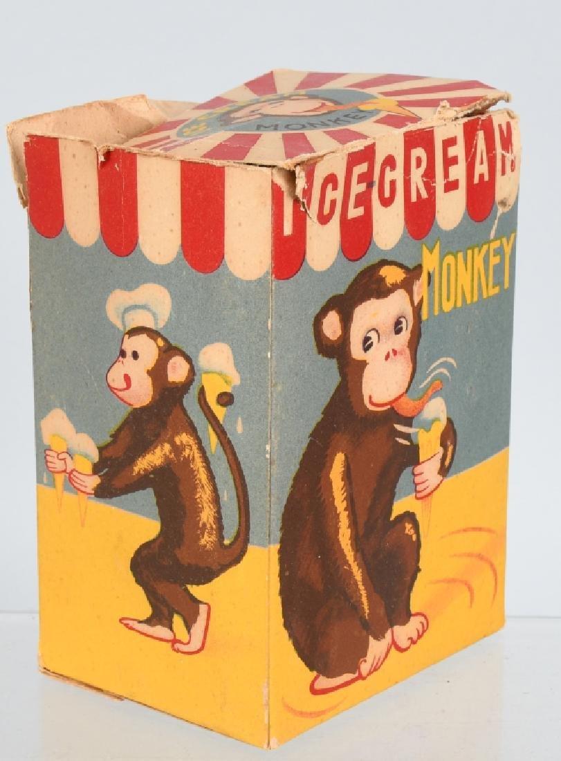 JAPAN Windup ICE CREAM EATING MONKEY w/ BOX - 5