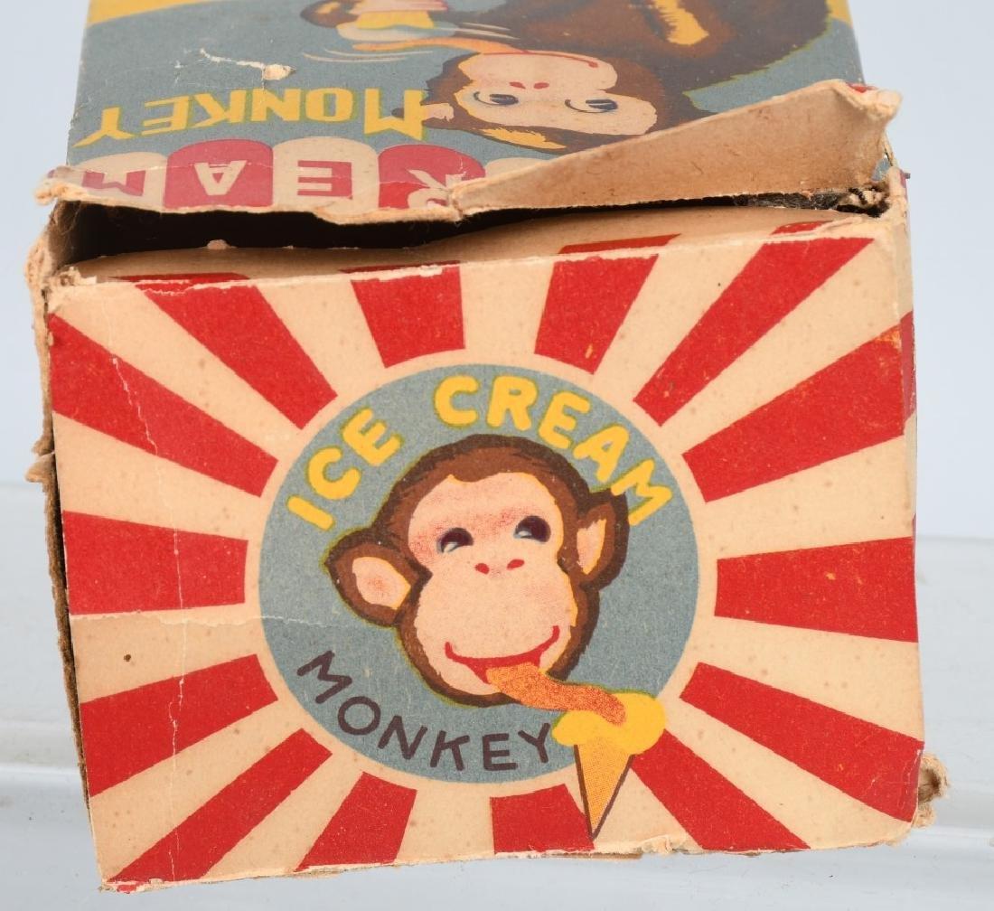 JAPAN Windup ICE CREAM EATING MONKEY w/ BOX - 7