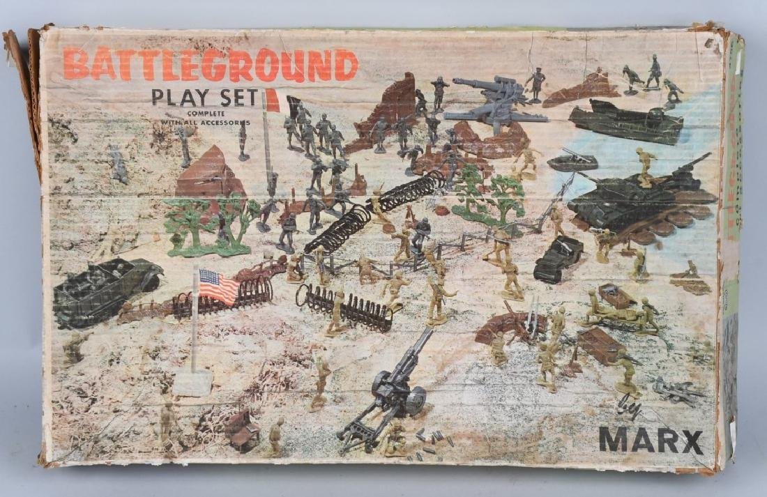 MARX #4756 BATTLEGROUND PLAYSET w/ BOX