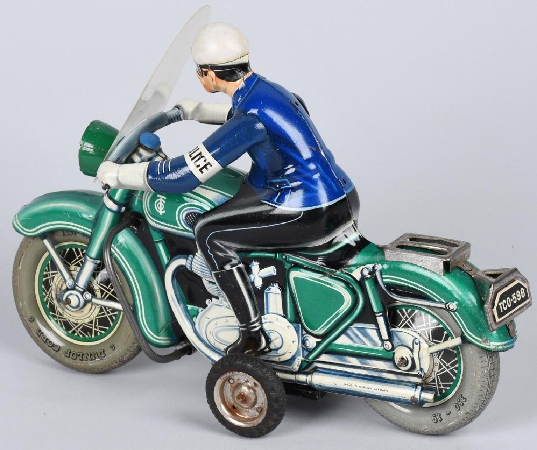 "12"" TIPP CO Tin Friction POLICE MOTORCYCLE - 2"
