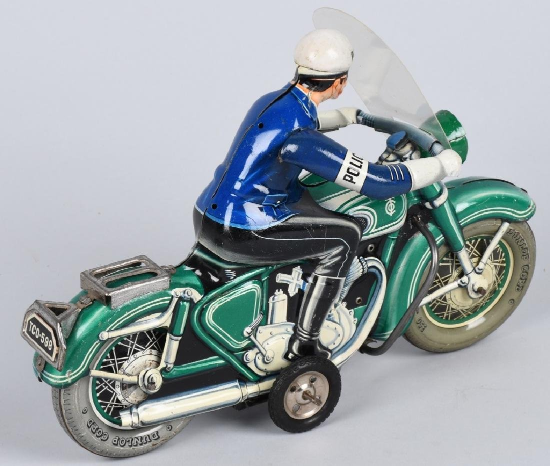 "12"" TIPP CO Tin Friction POLICE MOTORCYCLE - 3"