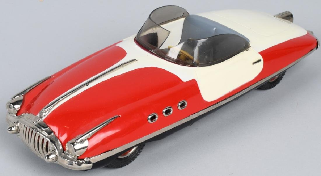 PAYA Tin Friction FUTURISTIC CONVERTIBLE CAR
