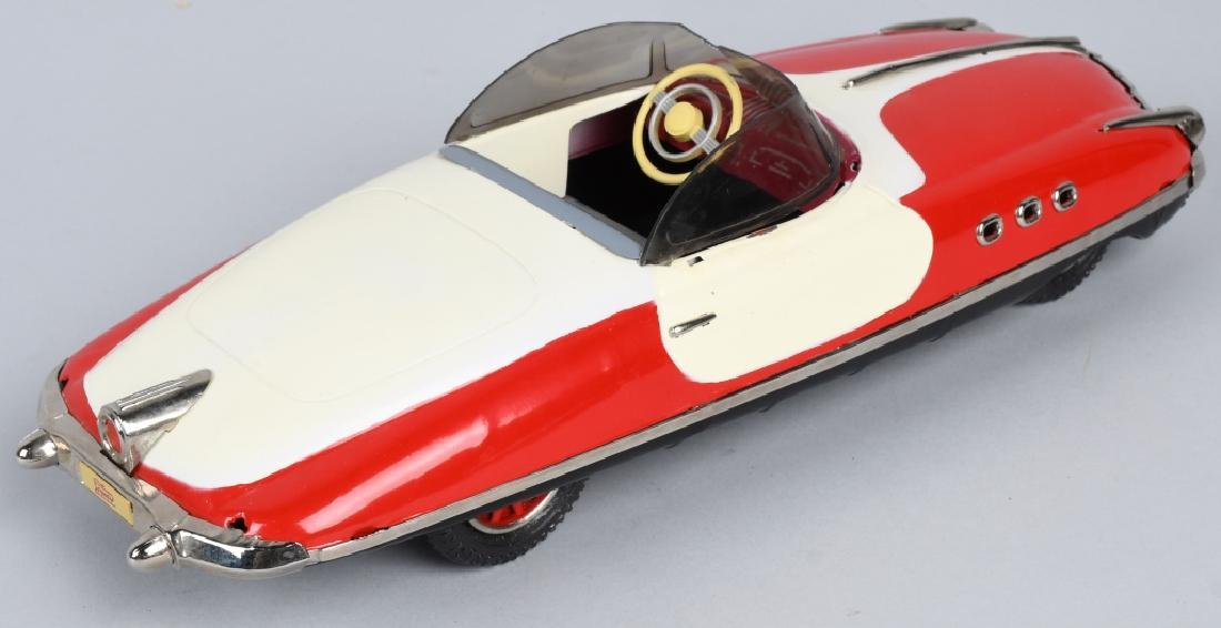 PAYA Tin Friction FUTURISTIC CONVERTIBLE CAR - 3