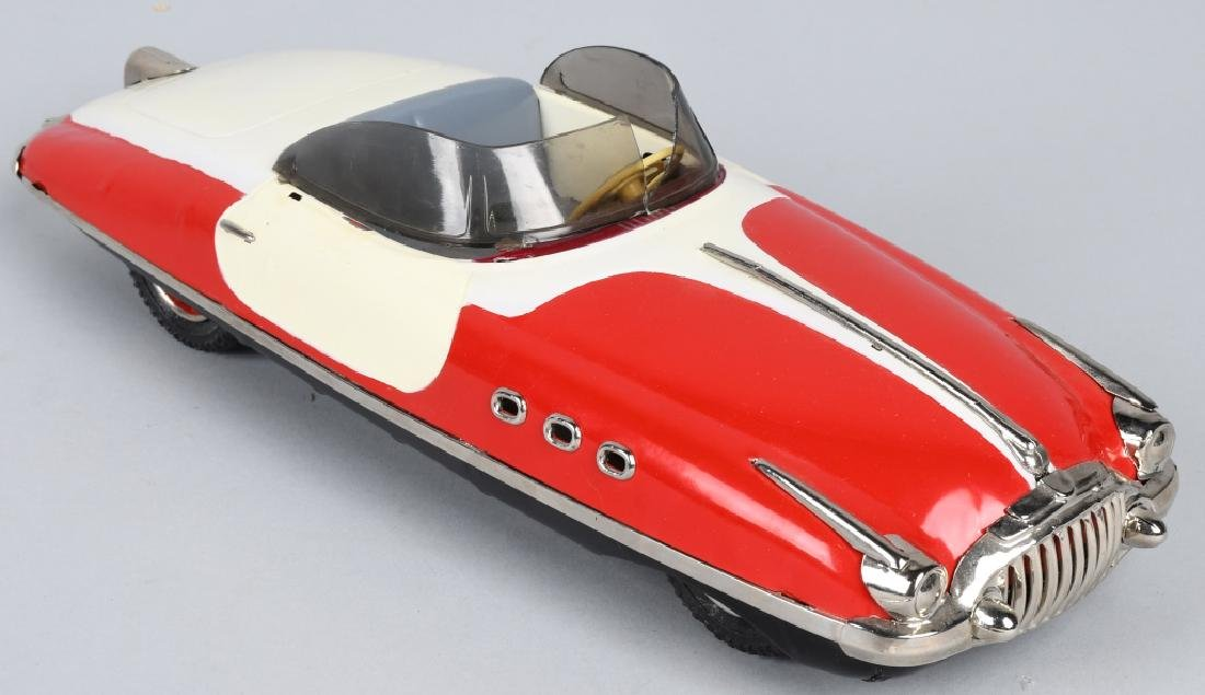 PAYA Tin Friction FUTURISTIC CONVERTIBLE CAR - 4