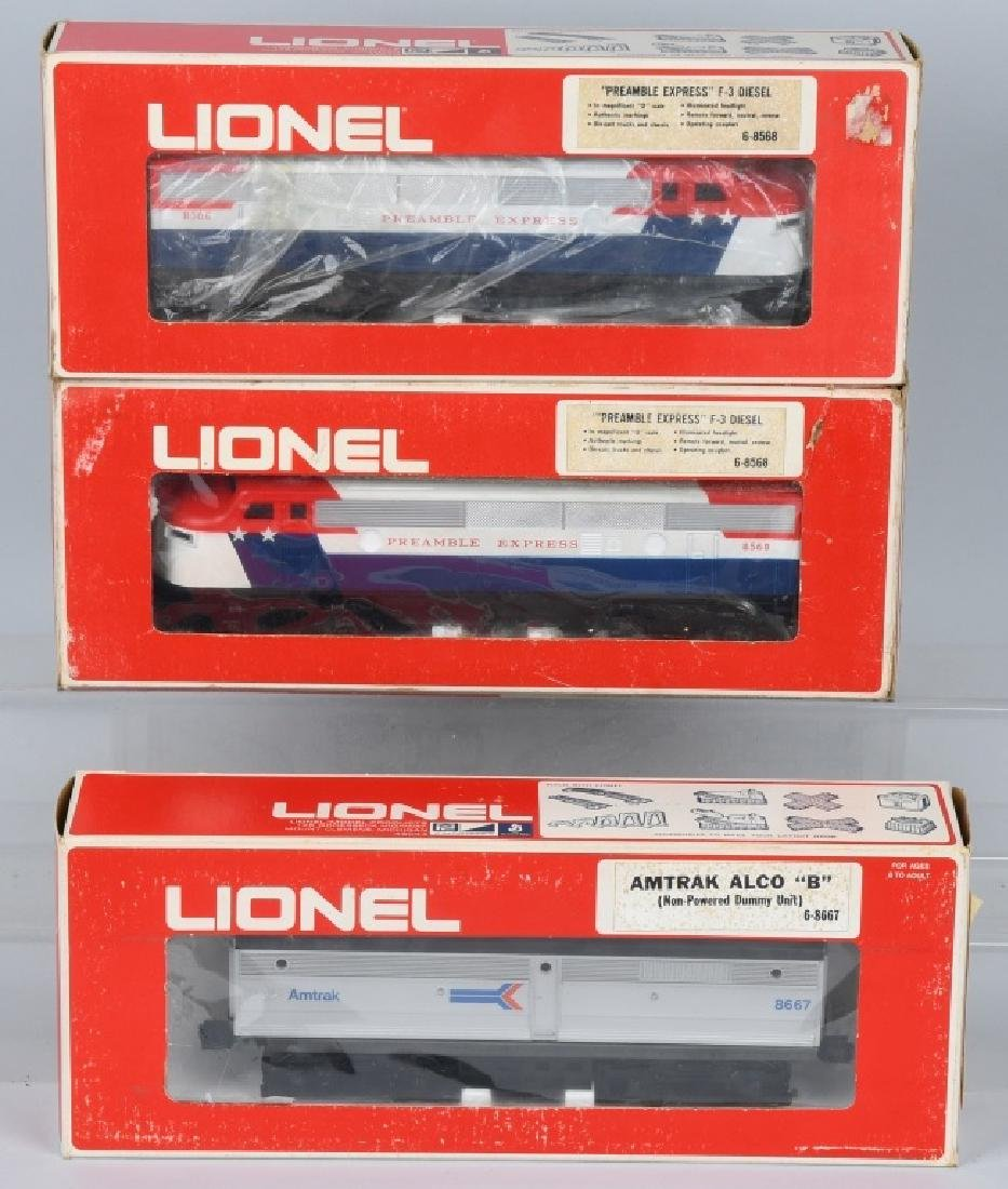 2-LIONEL PREAMBLE EXPRESS F-3 ENGINES, & MORE