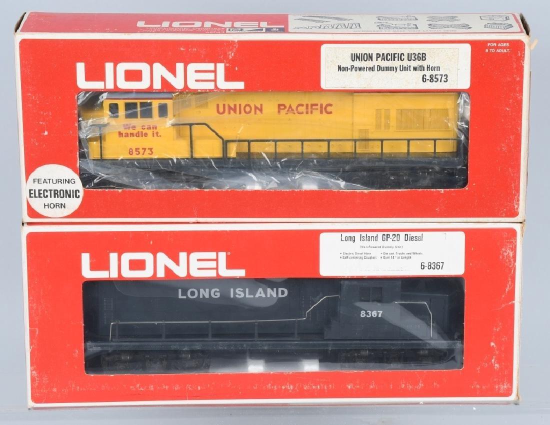 2-LIONEL DIESEL DUMMY ENGINES, No.8367 & 8573