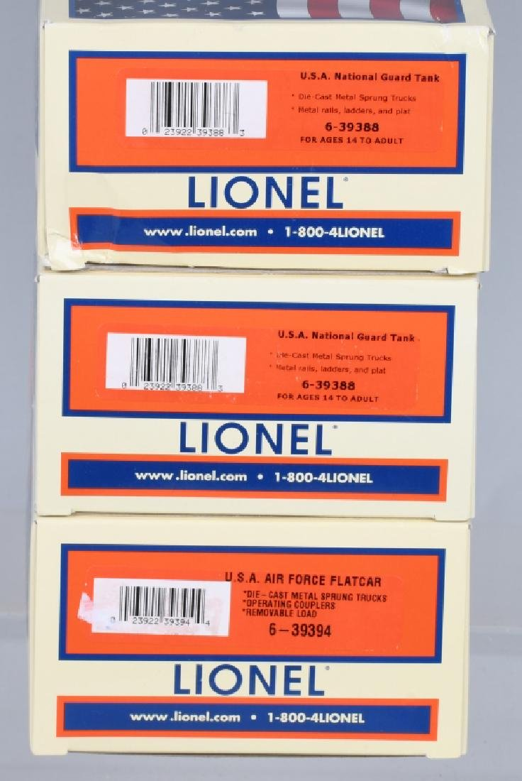 3-LIONEL MILITARY CARS BOXED - 4