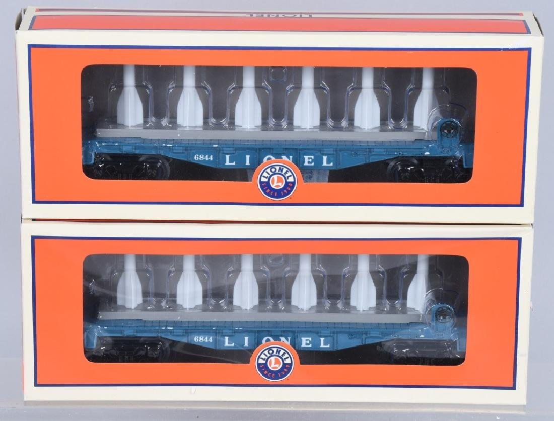 2-LIONEL MISSILE CARRYING CARS, NO. 81493