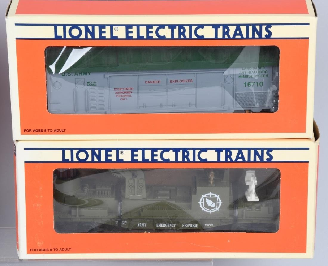 4-LIONEL MILITARY CARS BOXED - 2