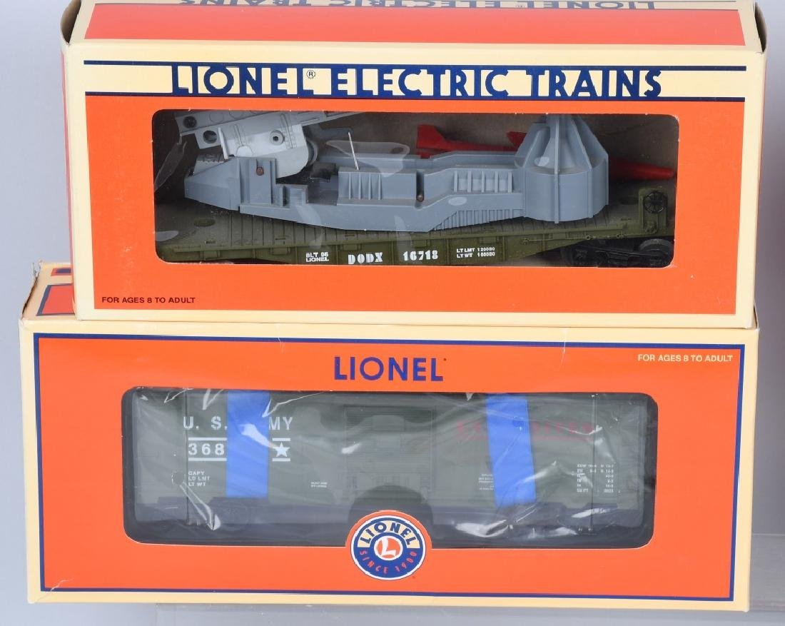 4-LIONEL MILITARY CARS BOXED - 3