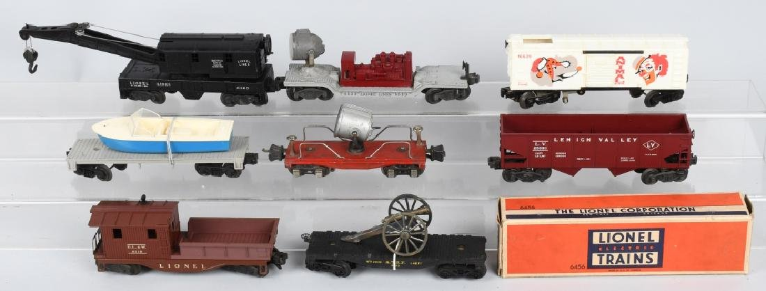 8-LIONEL O GAUGE ROLLING STOCK