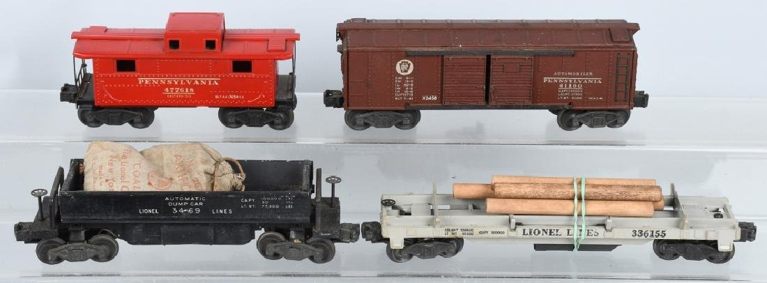 4-LIONEL O GAUGE ROLLING STOCK