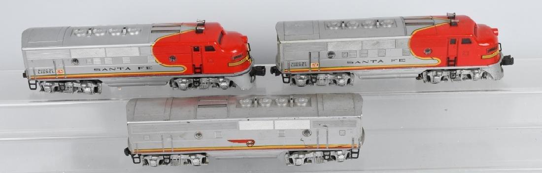 LIONEL SANTA FE, NO 2343P. 2343T & 2343C, BOXED - 2