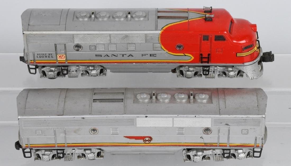 LIONEL SANTA FE, NO 2343P. 2343T & 2343C, BOXED - 5