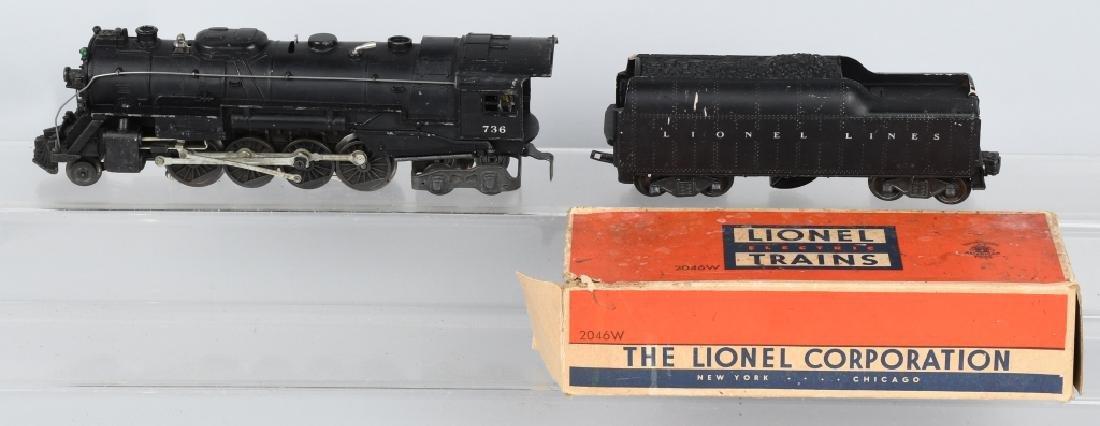 LIONEL No. 736 ENGINE & 2046W TENDER