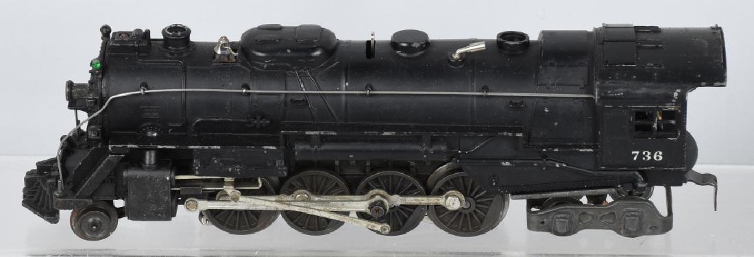 LIONEL No. 736 ENGINE & 2046W TENDER - 2