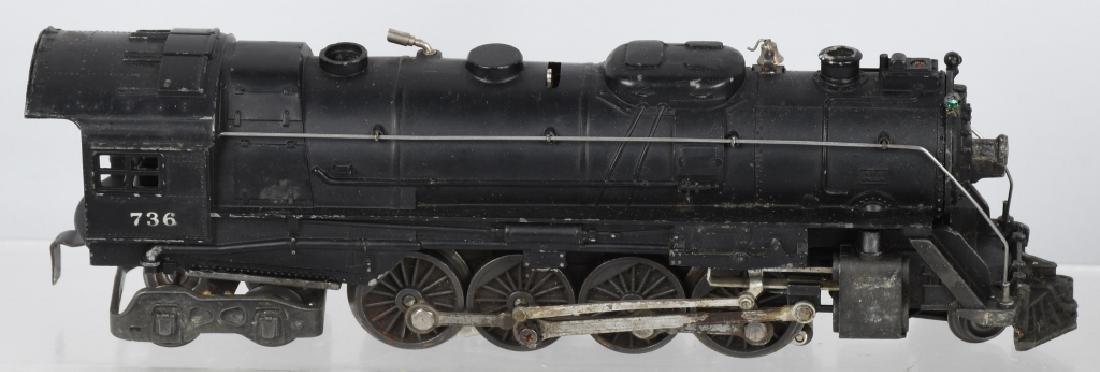 LIONEL No. 736 ENGINE & 2046W TENDER - 3