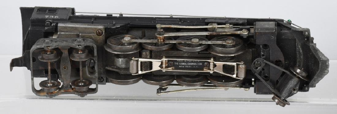 LIONEL No. 736 ENGINE & 2046W TENDER - 4
