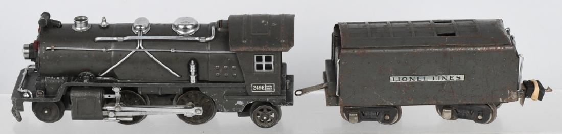 LIONEL No.249E ENGINE & 265W TENDER