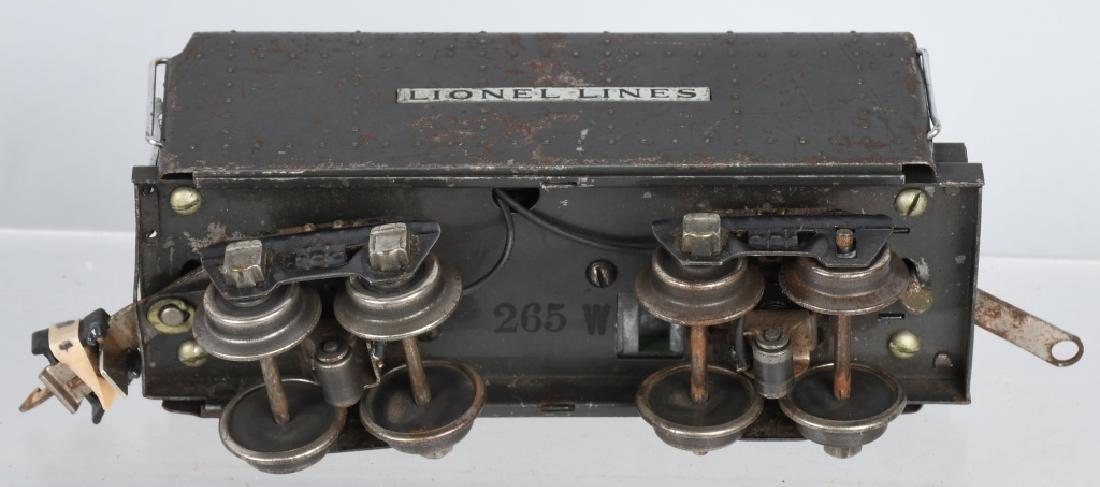 LIONEL No.249E ENGINE & 265W TENDER - 7