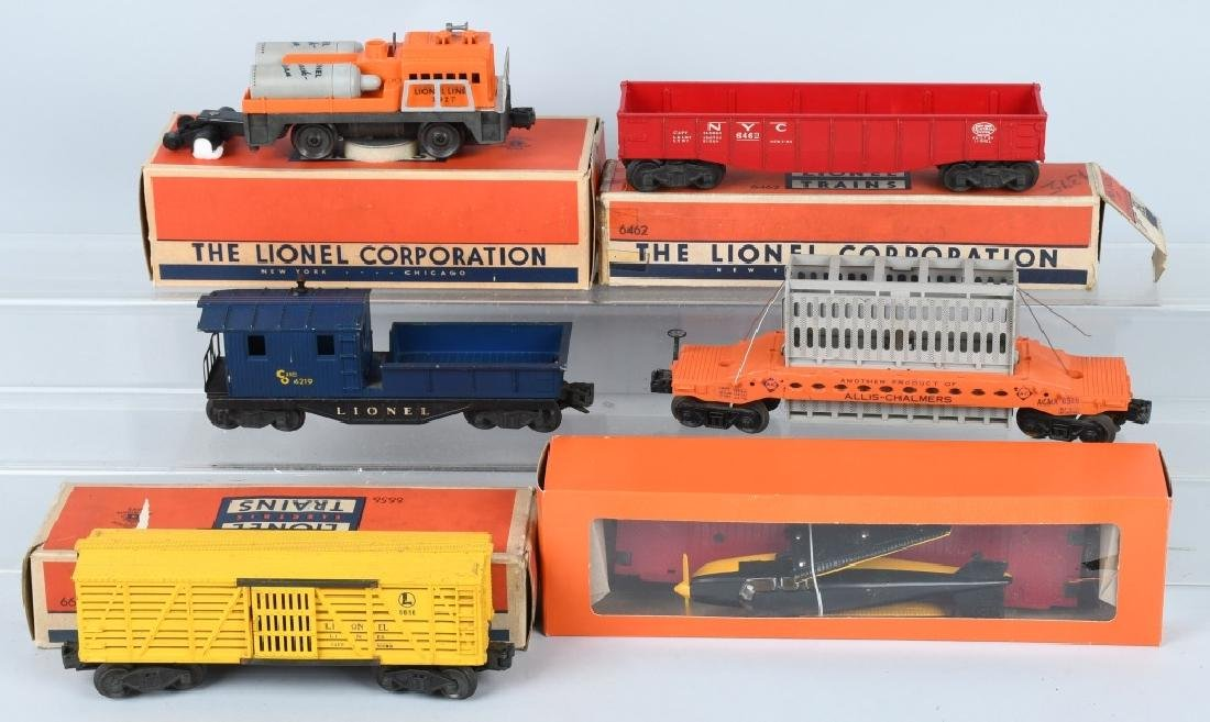 6-LIONEL O GAUGE ROLLING STOCK