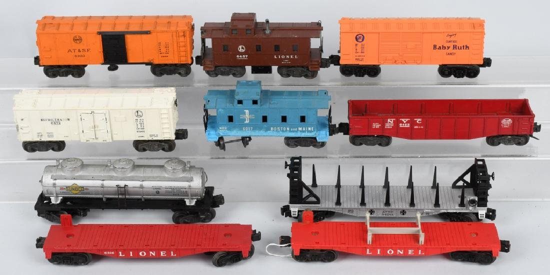 10-LIONEL O GAUGE ROLLING STOCK