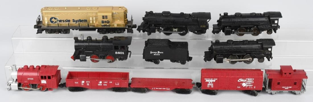 LIONEL ROCK ISLAND SET, ENGINES & MORE