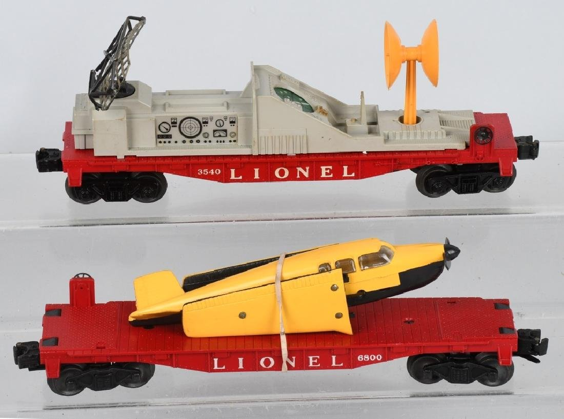 LIONEL No. 6800 AIRPLANE LOAD, & 3540 RADAR CAR