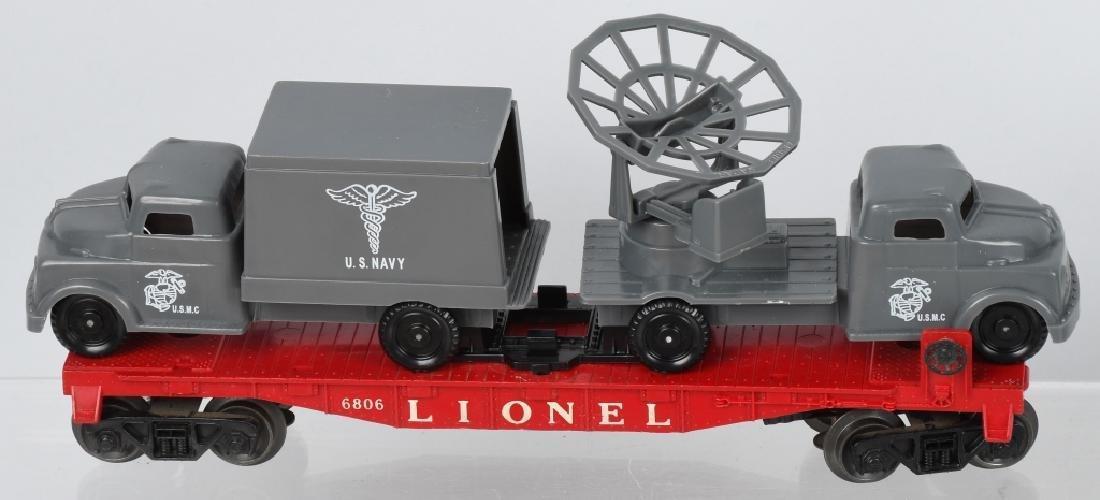 LIONEL LOT, ARMY, NAVY & USMC O GAUGE CARS - 2