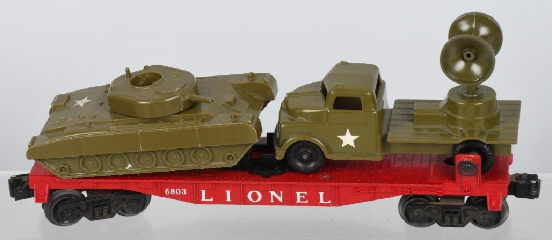 LIONEL LOT, ARMY, NAVY & USMC O GAUGE CARS - 3
