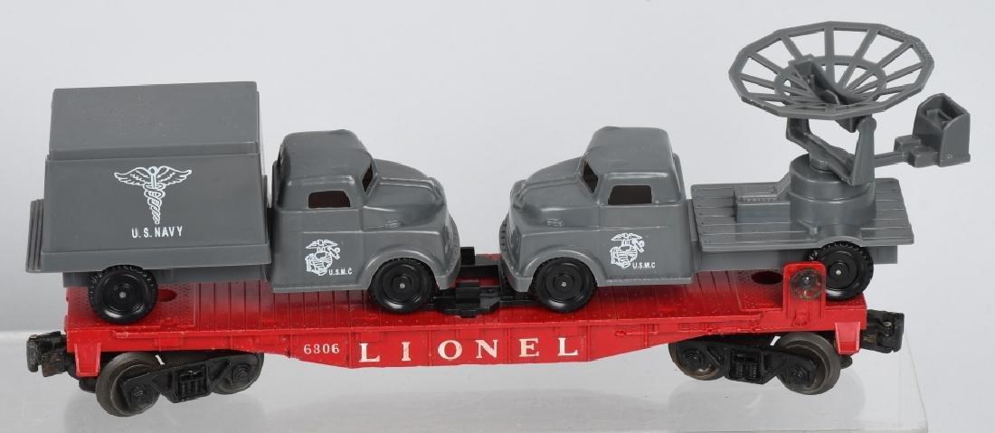 LIONEL LOT, ARMY, NAVY & USMC O GAUGE CARS - 4