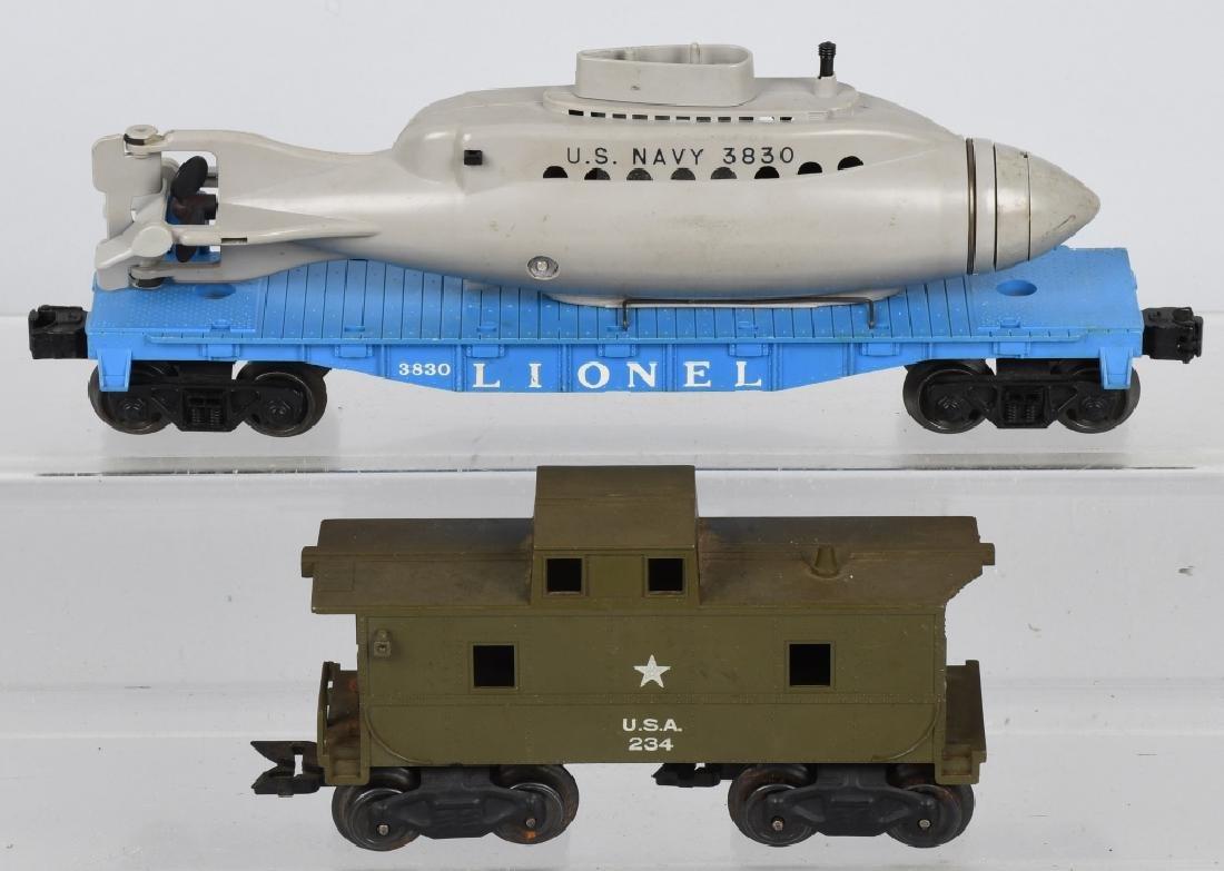 LIONEL LOT, ARMY, NAVY & USMC O GAUGE CARS - 5