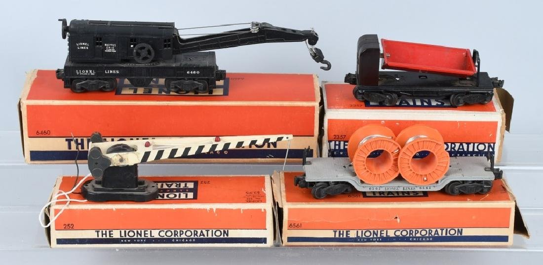3-LIONEL 0 GAUGE BOXED ROLLING STOCK & MORE