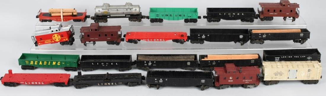 20-LIONEL O GAUGE ROLLING STOCK