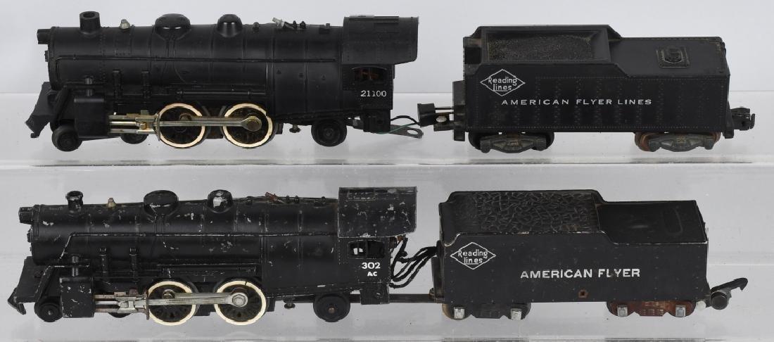 2-AMERICAN FLYER ENGINES, No. 302 & 21100